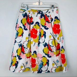 Boden Floral Pleated Skirt